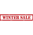 Winter sale stamp vector image vector image