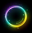 neon gradient circle background vector image