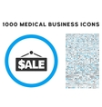 Sale Label Icon with 1000 Medical Business Symbols vector image