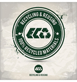 alternative recycling and reusing stamp vector image