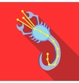 Scorpius constellation icon flat style vector image