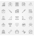 Veterinary line icons vector image