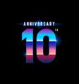 10 years anniversary celebration logotype vector image vector image