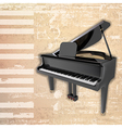 abstract beige grunge background with grand piano vector image vector image