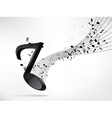 Abstract music backgroud with notes vector image