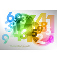 abstract shape with numbers rainbow vector image vector image