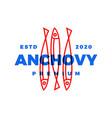 anchovy logo icon vector image