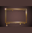 art creative golden melting frame flowing flux vector image vector image