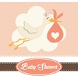 Baby Shower design Invitation concep Colorful vector image vector image