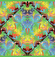 baroque colorful seamless pattern ornamental vector image