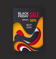 black friday flyer special offer 50 percent vector image vector image