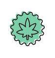 black line medical marijuana or cannabis leaf icon vector image vector image