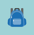 blue rucksack or backpack vector image