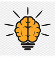 brain light bulb icon vector image