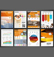 business backgrounds and infographics vector image vector image