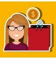 Business internet online ecommerce buy vector image vector image