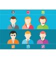 business set of stylish avatars of woman girls vector image vector image