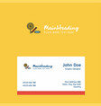 candies logo design with business card template vector image vector image