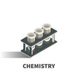 chemistry icon symbol vector image vector image