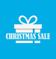 christmas sale banner with gift box on blue vector image
