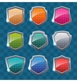 Collection of colorful shields vector image vector image