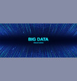 colorful big data visualization background vector image