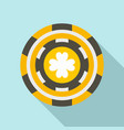 colorful casino chip icon flat style vector image