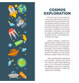 cosmos exploration poster of universe space vector image vector image