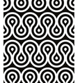 Curls seamless pattern black and white retro style vector image vector image