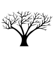 Decorative tree silhouette vector image vector image