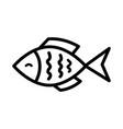 fish icon icon or logo vector image