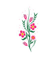 flowers strips icon vector image vector image