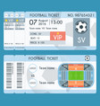 football ticket modern design soccer stadium vector image