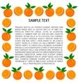 Frame of Oranges and Orange Slices vector image vector image