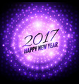 glowing 2017 party celebration background in vector image vector image
