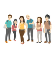 Group of smiling teenage students eps10 vector image vector image