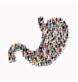 group people shape stomach medicine vector image