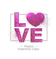 happy valentines day background with love heart vector image vector image
