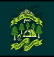 im ready for cool night and campfires quotes vector image