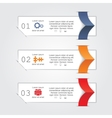 Infographic report template with text and icons vector image vector image
