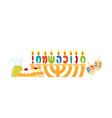 jewish holiday of hanukkah hanukkah menorah vector image vector image