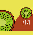 kiwi fruit tropical fresh natural on colored vector image
