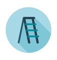 Ladder stepladder stair flat icon vector image vector image