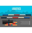 Logistics banner with freight train vector image vector image
