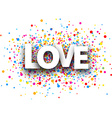 Love paper background vector image vector image