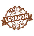 made in lebanon round seal vector image vector image