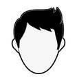 man faceless cartoon vector image vector image