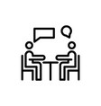 meeting line icon vector image