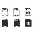 Memory card icon set vector image vector image