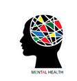 mental health concept vector image vector image
